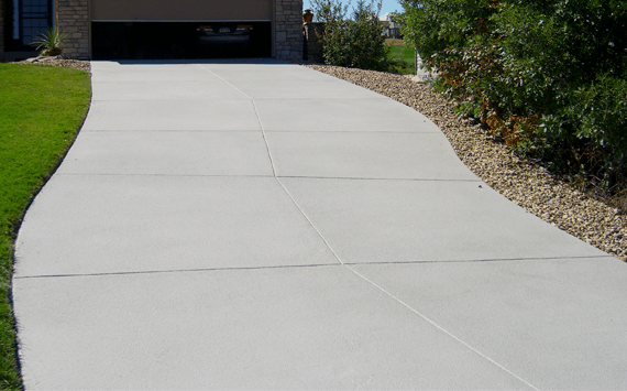 A brand new concrete driveway installed by a concrete installation contractor approved by allaboutdriveways