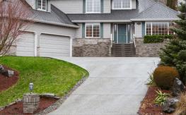 A new concrete driveway