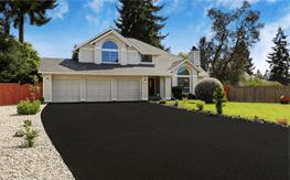 A new asphalt driveway