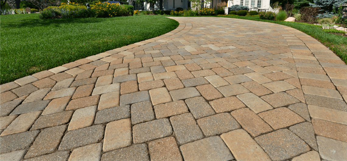 An Interlocking paver driveway installed beautifully