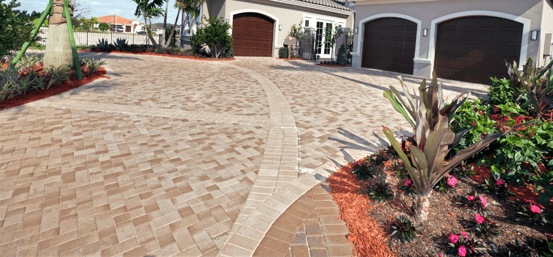 An Interlocking pavers driveway installed by an expert