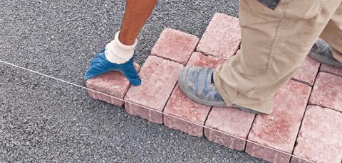 Installing concrete paver driveway