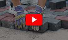 Installing interlocking pavers video