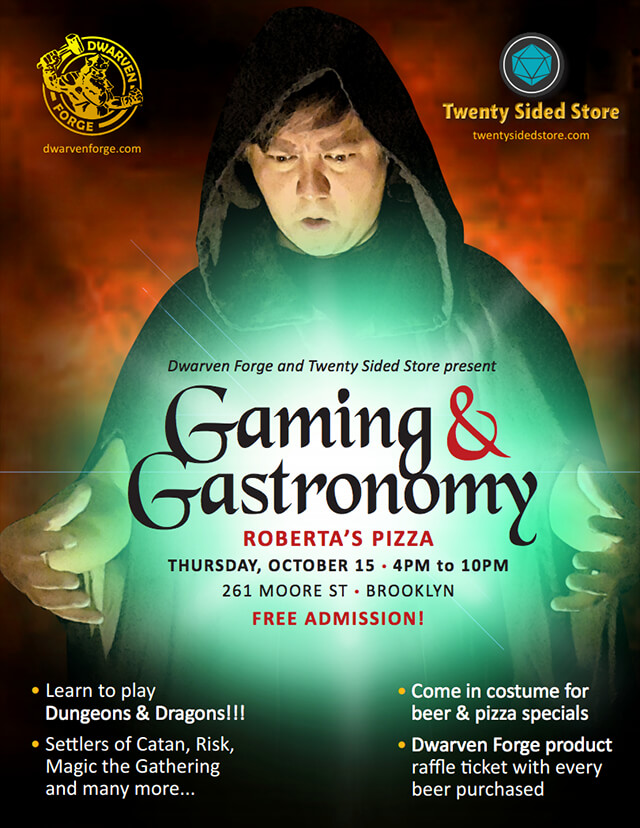 Gaming & Gastronomy Flyer