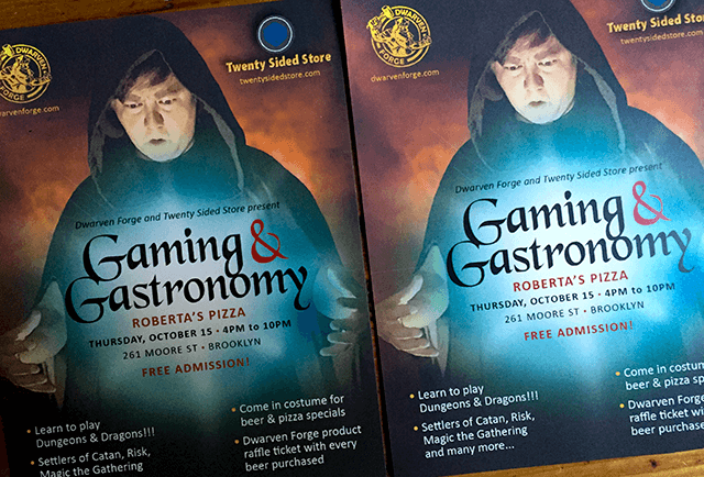 Gaming & Gastronmy Flyer