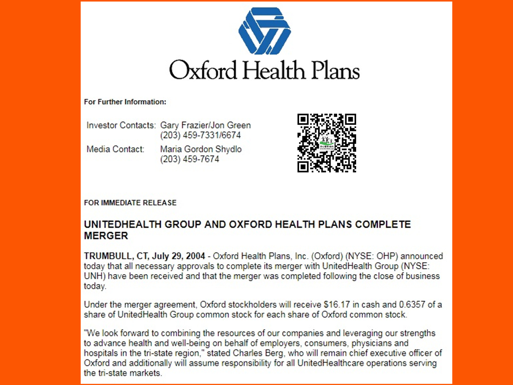 Oxford Health Insurance 2019 Audit Updates & Review w BBB