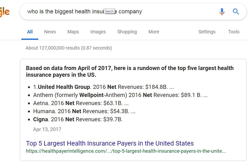 UHC-Is-World-Largest-Insurance-Carrier-?