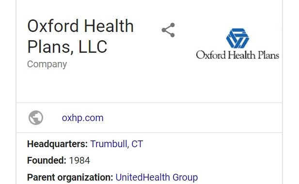 Oxford Health is a subsidiary of United Health Group
