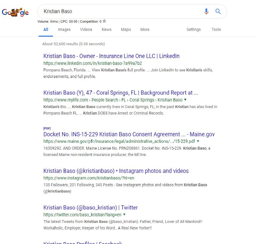 Google Kristian Baso