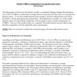 COBRA Election Notice