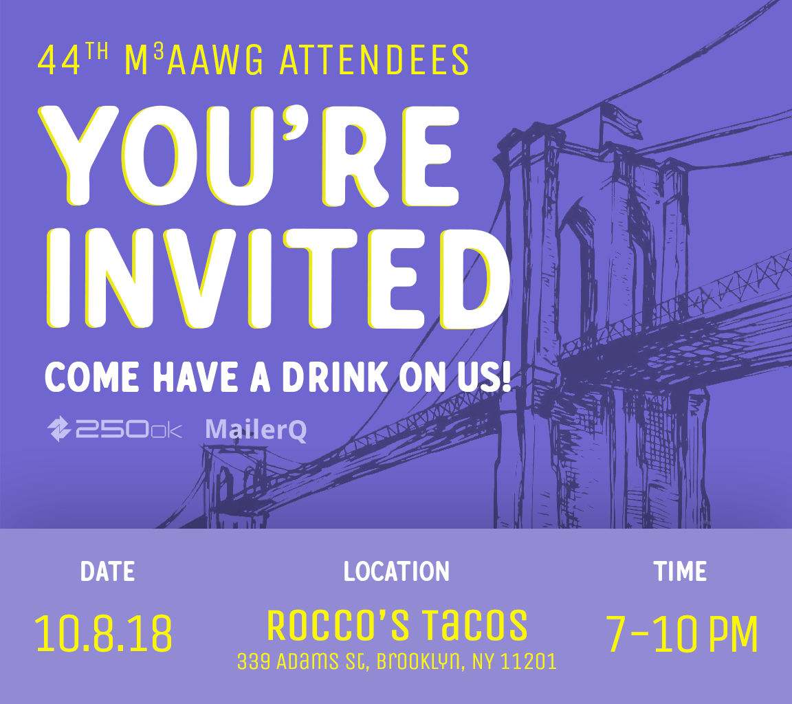 M3AAWG 44th invitation for drinks