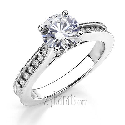 Custom design Diamond Engagement Ring To Match Customer's Wedding Band