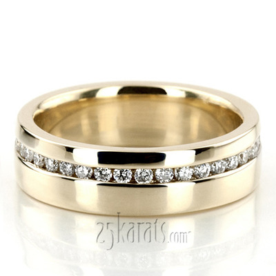 Custom design Yellow Gold Wedding Band