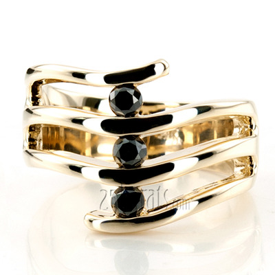 Custom design Black Beauty Right Hand Ring