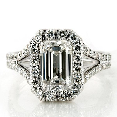 Custom design Hand Made Platinum Micro Pave Engagement Ring