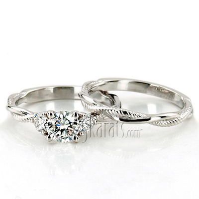 Custom design Custom Palladium Engagement Set