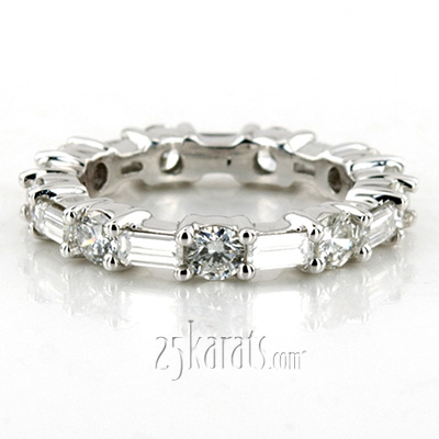 Custom design Multi-Shape Diamond Eternity Ring