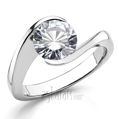 Custom design Tension Set Solitaire Engagement Ring
