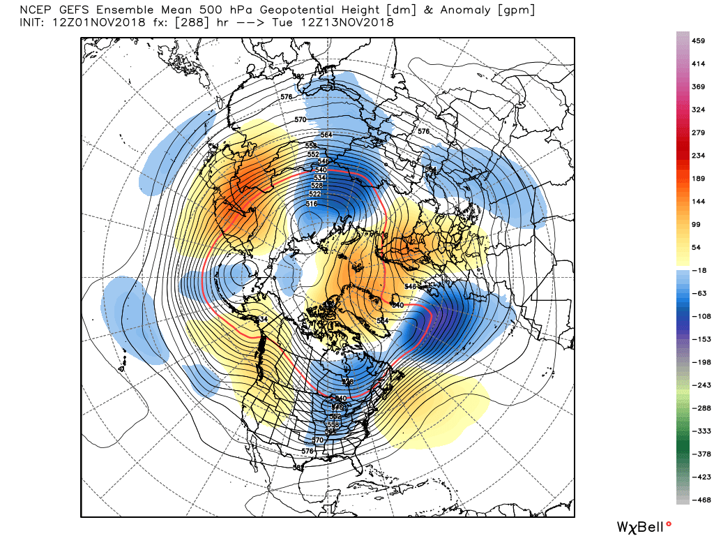 gefs_z500a_nh_49   NOV 1 2018 - SPLIT THE RIDGE.png
