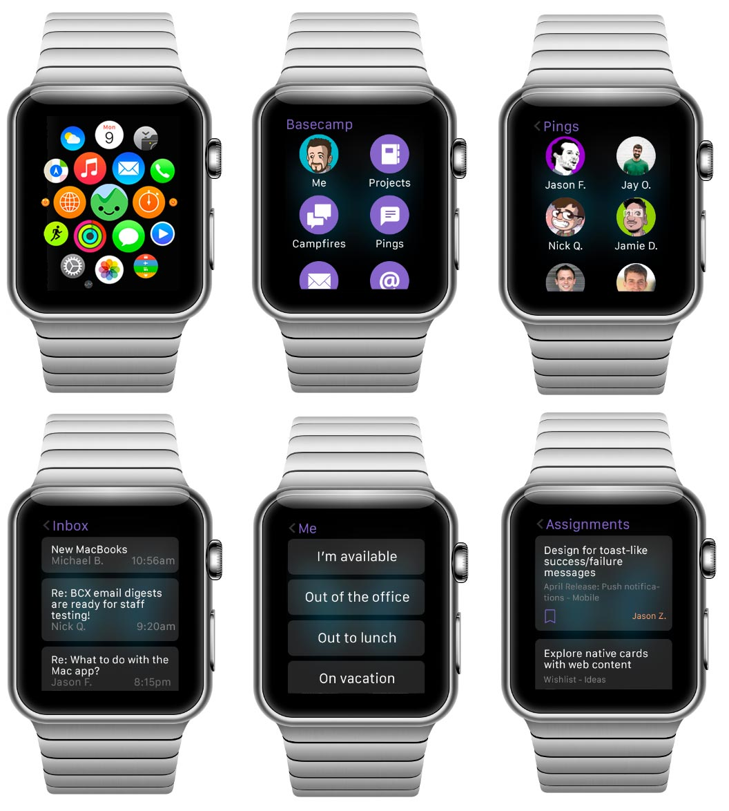 Apple Watch screens