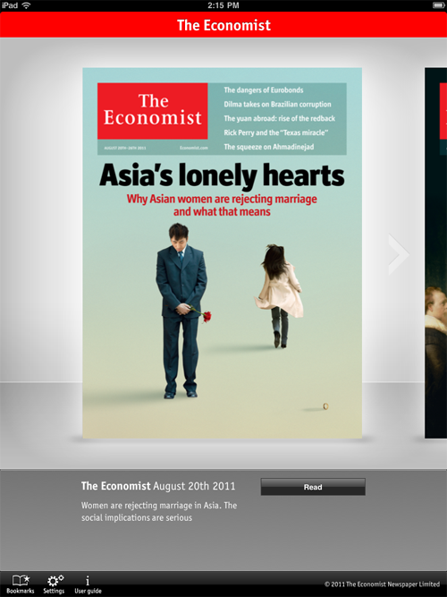 The Economist on the iPad: Perfect – Signal v  Noise
