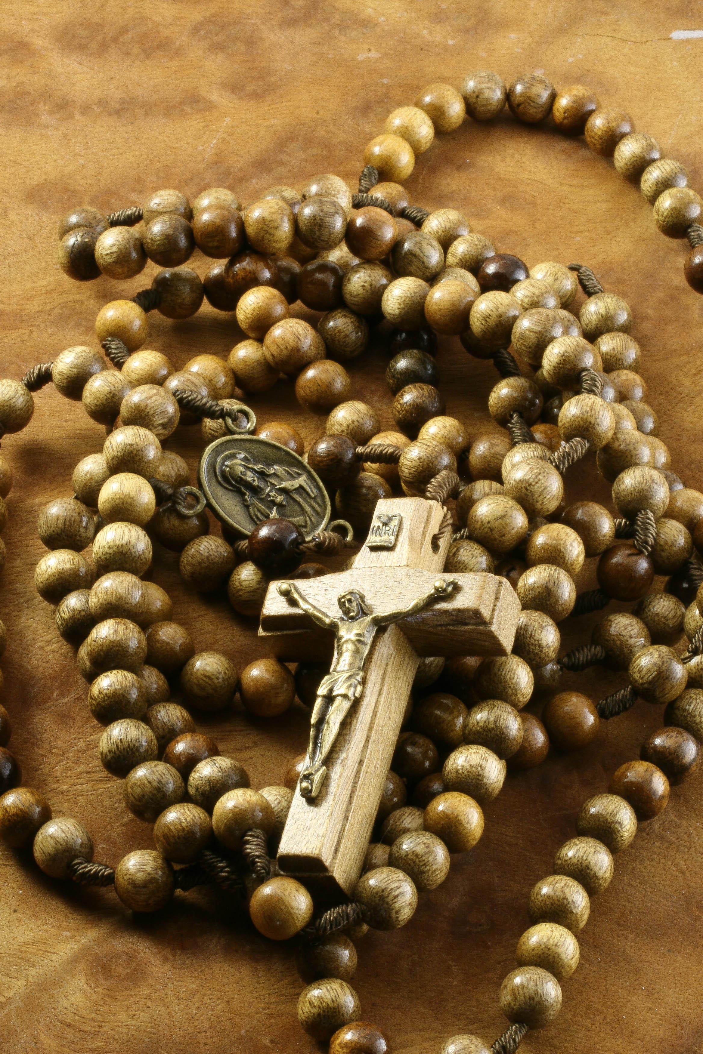 St. John Brown Wood Rosary  |Brown Rosaries