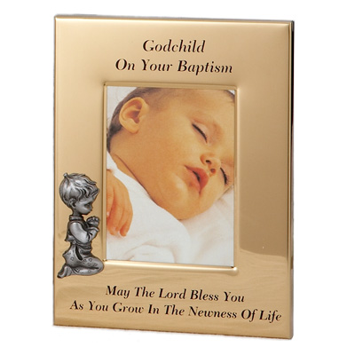 baptism picture frame for a boy