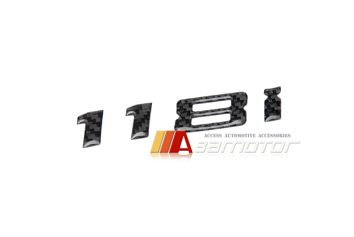 For BMW E81 E87 E88 F21 F20 1-Series 120d Matte Black Trunk Letters Emblem Decal