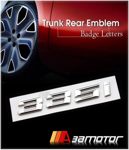 bmw e90 e92 f30 chrome letter trunk lid rear emblem badge. Black Bedroom Furniture Sets. Home Design Ideas