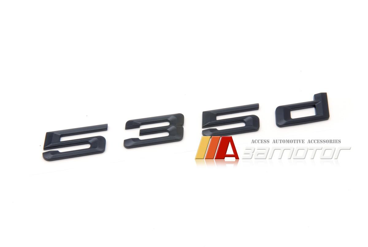 BMW F10 E60 Matte Black Letter Trunk Lid Rear Emblem Badge Letters 530i 530 i