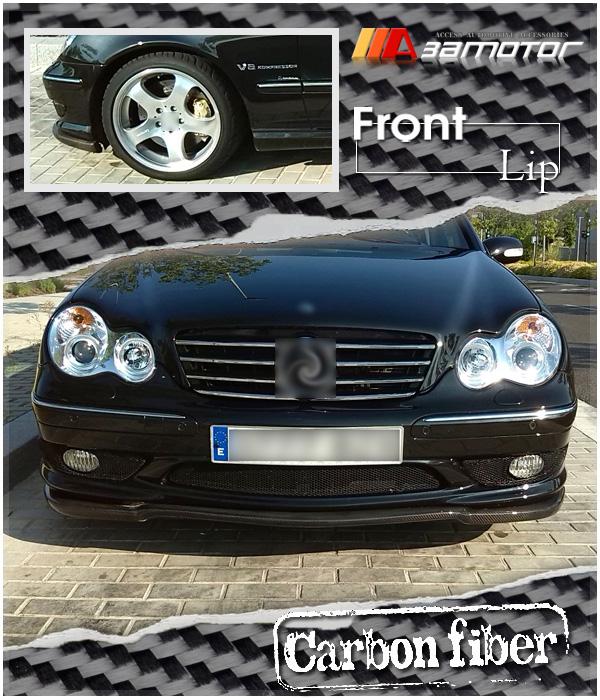 Carbon Fiber Amg Style Front Bumper Lip Spoiler For 2000