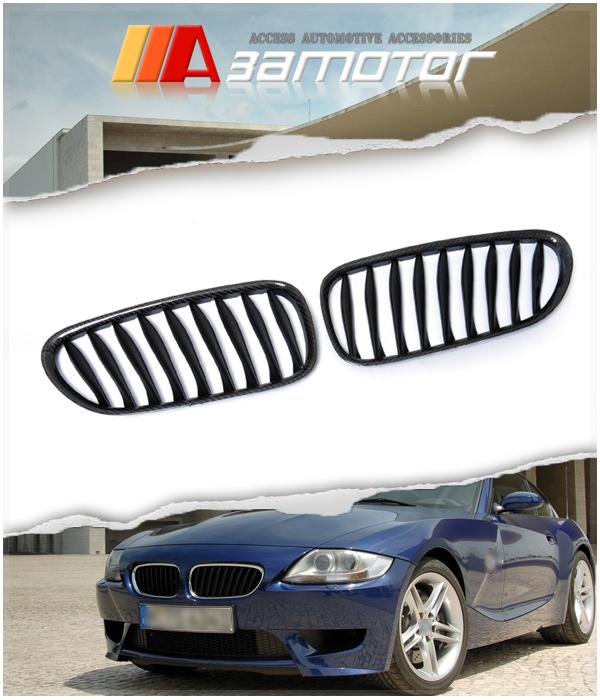 Bmw Z4m Coupe For Sale: Carbon Fiber Front Kidney Grilles For 03-08 BMW E85 E86 Z4