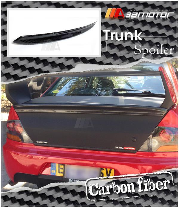 Compatible with MITSUBISHI LANCER EVOLUTION 8//9 REAL CARBON FIBER REAR TRUNK SPOILER WING