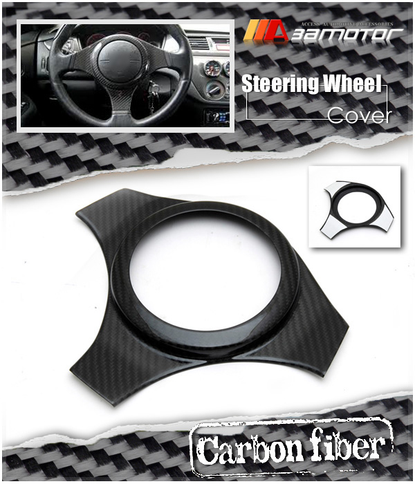 Dry Carbon Fiber Steering Wheel Cover For Mitsubishi