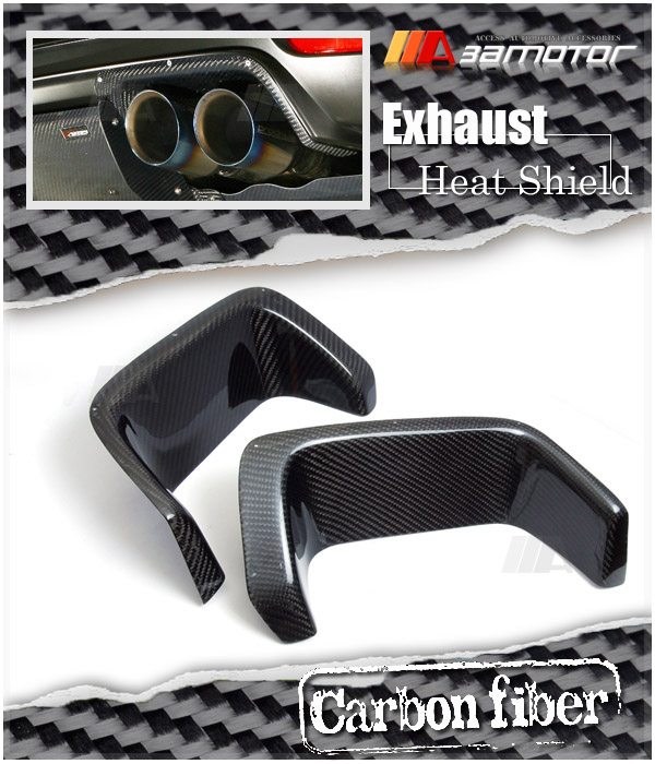 Carbon Rear Bumper Exhaust Heat Shields For 2008-2014 Impreza 5DR Wrx Sti GRB