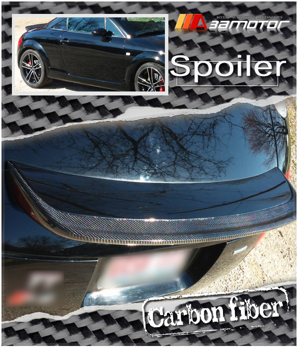 r style sport rear wing carbon fiber trunk spoiler for. Black Bedroom Furniture Sets. Home Design Ideas