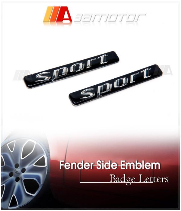 2 emblemas de letras negras mate V8 KOMPRESSOR para Benz AMG