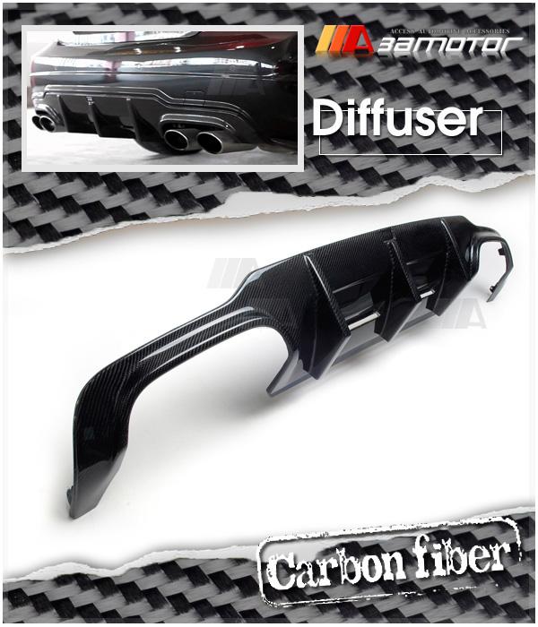 Carbon Fiber Big Fins Rear Diffuser For Mercedes W204 C63 Facelift Amg Bumper Ebay