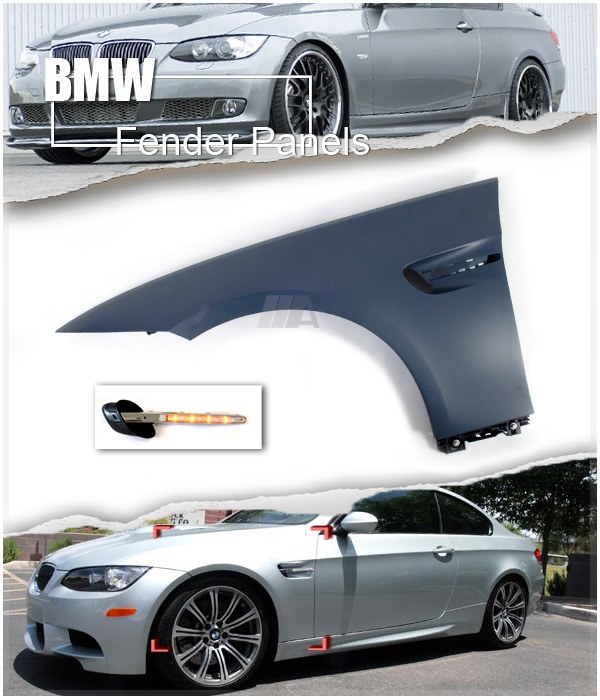 M3 Style Look Front Fender Panels For BMW E92 3-Series
