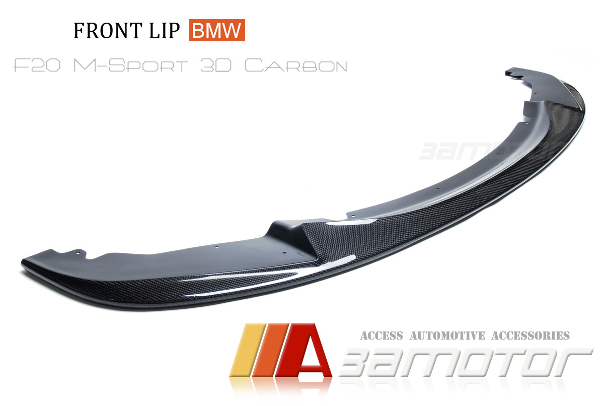 3d carbon front lip spoiler for bmw f20 f21 1 series pre. Black Bedroom Furniture Sets. Home Design Ideas
