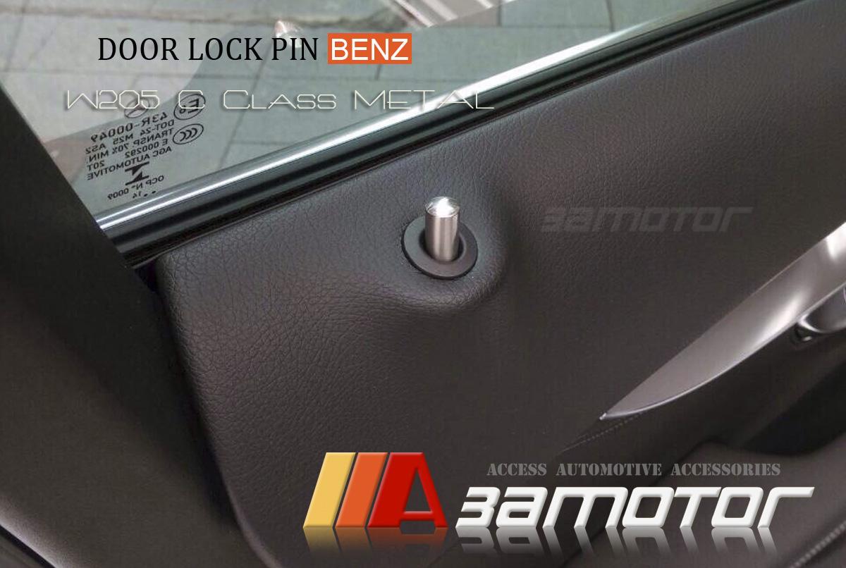 Metal door lock pins for mercedes w205 c class c200 c250 for Mercedes benz door lock pins