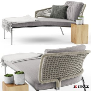 High quality model of CTR MERIDIENNE daybed.