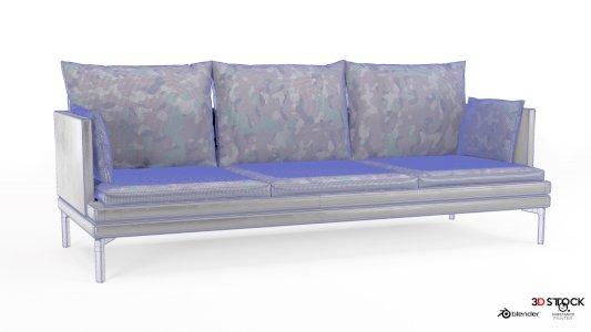Camouflage leather sofa