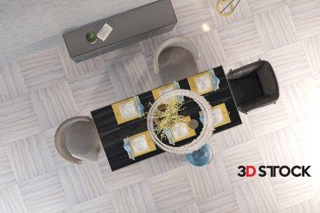 table set 3dmax scene modern design
