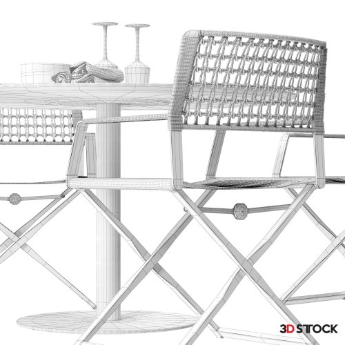 High quality model of Regista chair set 02