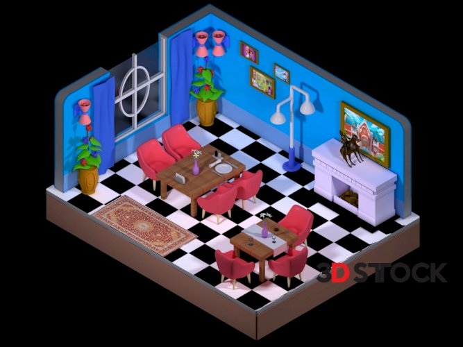 Casual game room