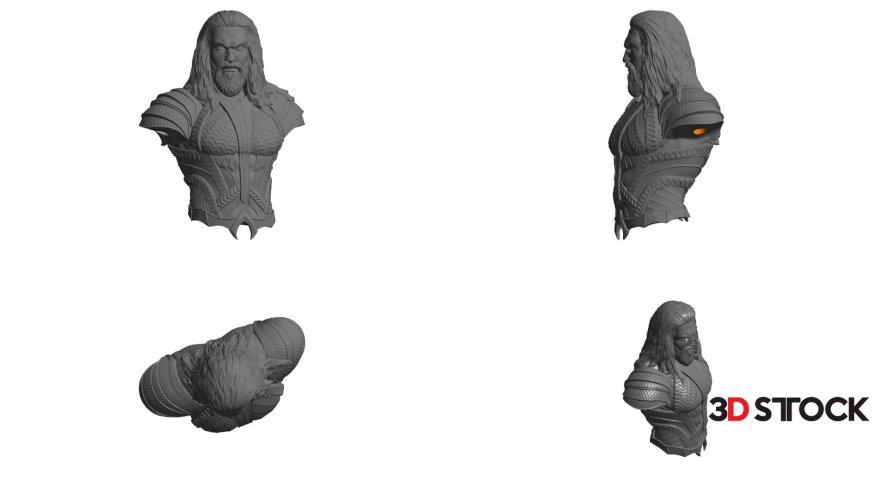 aquaman stl 3d print model