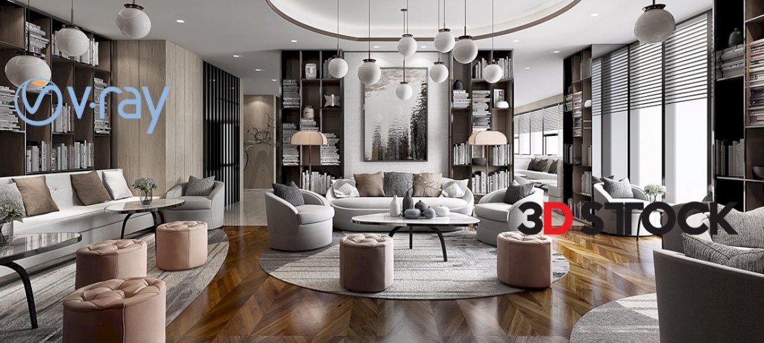 interior living room full set
