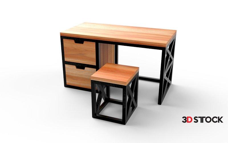 Loft-style desk