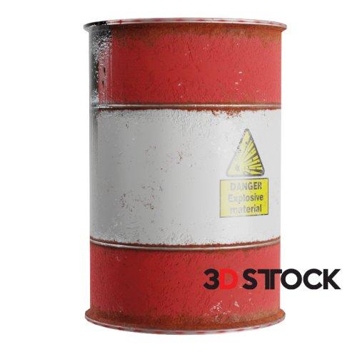 Explosive oil barrel